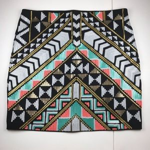 NWT- Express Geometric Colorful Short Pencil Skirt